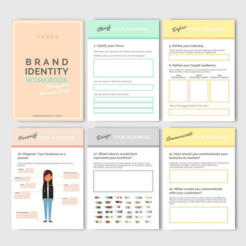 Brand identity workbook pdf yvoxs for Workbook template indesign
